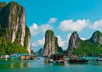 ostrovy v zátoce Halong
