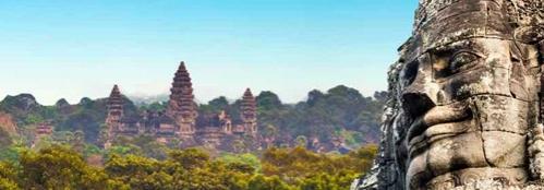 angkor wat, vietnam a kambodža
