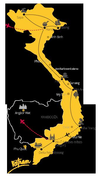 To nejlepší z Vietnamu mapa