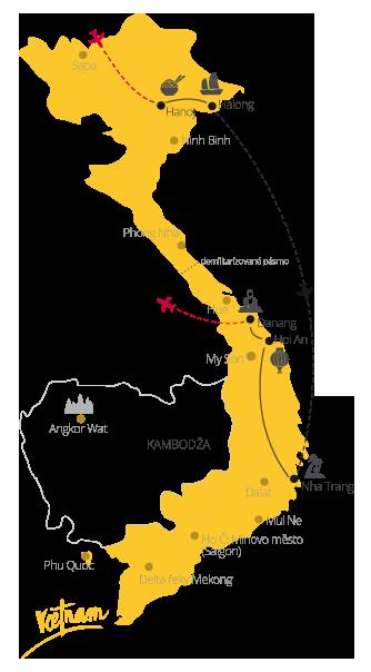 Zájezd Vietnam pro každého mapa